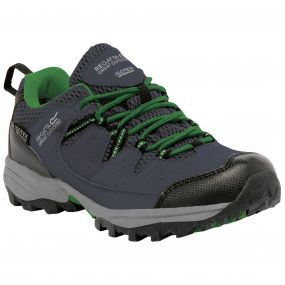 Kids Holcombe Low Walking Shoe Seal Grey Green