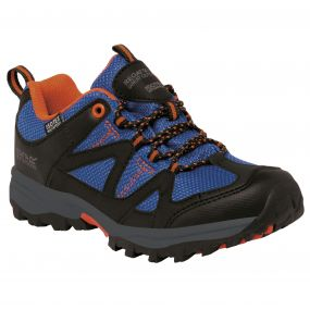Kids Gatlin Low Walking Shoe Blue Orange
