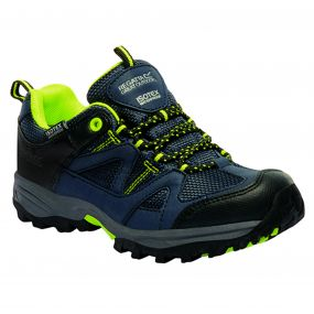 Kids Gatlin Low Walking Shoe Navy Lime