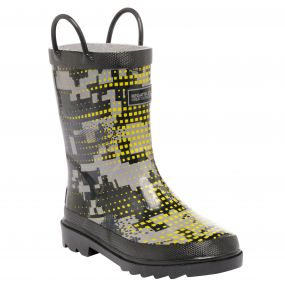 Kids Minnow Wellington Boot Ash Rock Grey