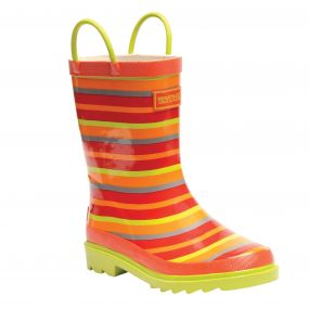 Kids Minnow Wellington Boots Trailblaze Lime Zest
