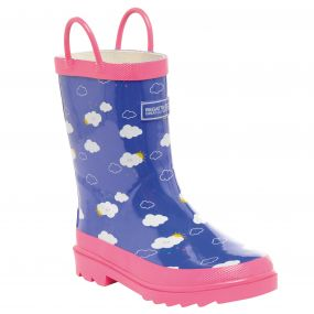 Kids Minnow Wellington Boot Peony Pretty Pink