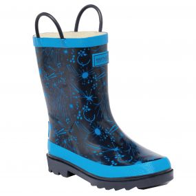 Kids Minnow Wellington Boot Navy Blue
