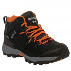 Kids Holcombe Mid Walking Boot Black Magma