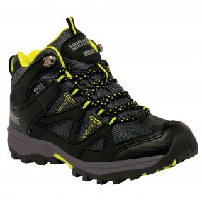Kids Gatlin Mid Walking Boot Black Neon Spring