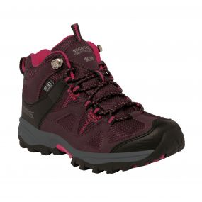 Kids Gatlin Mid Walking Boots Fig Vivacious