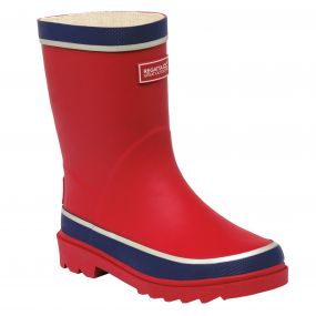 Kids Foxfire Wellington Boot Red Prussian