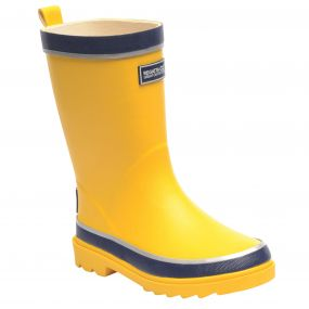 Kids Foxfire Wellington Boot Glow Light Yellow