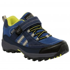 Kids Trailspace II Low Walking Shoe Navy Neon Spring