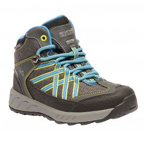 Kids Samaris Mid Hiking Walking Boots Briar French Blue