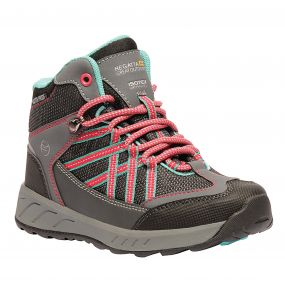 Kids Samaris Mid Hiking Walking Boots Granite Duchess