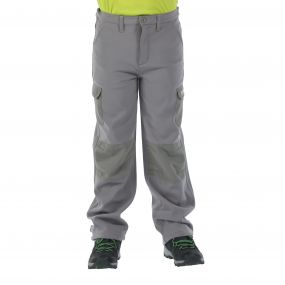 Kids Winter Stretch Softshell Trousers Rock Grey