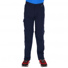 Kids Sorcer Zip Off Trousers Navy