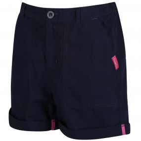 Damzel Coolweave Cotton Shorts Navy