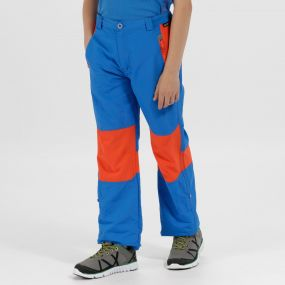 Kids Sorcer Mountain III Lightweight Trousers Skydiver Blue Amber