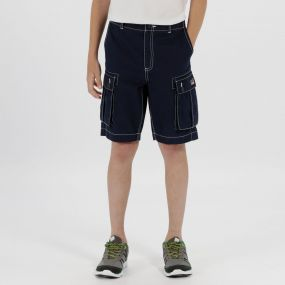 Kids Shorefire Cool Weave Cotton Canvas Shorts Navy