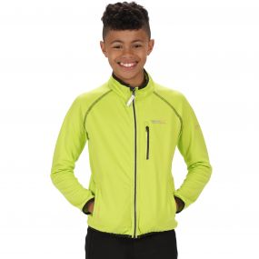 Kids Limit Basic Softshell Jacket Lime Zest