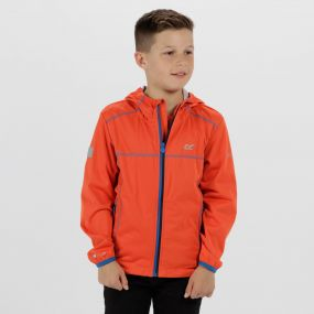 Kids Vortec Lightweight Softshell Jacket Amber Glow Light Steel
