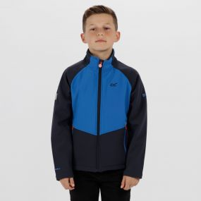 Kids Varro Woven Stretch Softshell Jacket Navy Skydiver Blue
