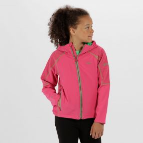 Kids Acidity II Reflective Hooded Softshell Jacket Hot Pink