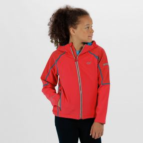 Kids Acidity II Reflective Hooded Softshell Jacket Coral Blush