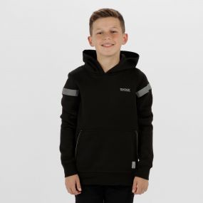 Kids Nebulize Hooded Softshell Jacket Black