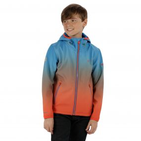 Anodize Hooded Woven Stretch SoftShell Jacket Skydiver Blue Amber