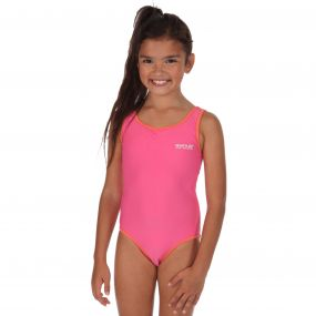 Girls Diver Swimming Costume Pretty Pink