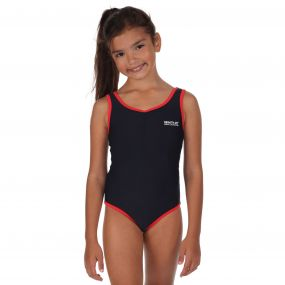 Girls Diver Swimming Costume Navy