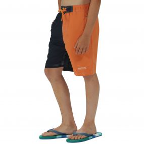 Boys Skooba II Swim Shorts Carrot Navy