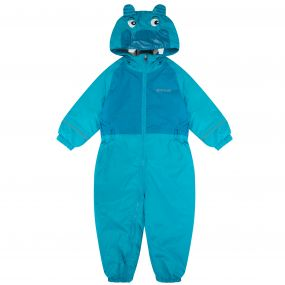 Kids Mudplay II Breathable Waterproof Hippo Puddle Suit Aqua Winberry
