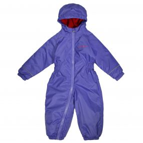 Kids Splosh III Plain Breathable Waterproof Puddle Suit Peony Purple