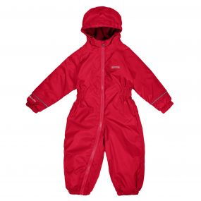 Kids Splosh III Plain Breathable Waterproof Puddle Suit Pepper Red