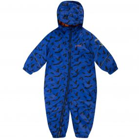 Kids Printed Splat Breathable Waterproof Puddle Suit Surfspray Blue Bat Print