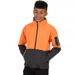 Kids Hydrate II Waterproof 3-in-1 Jacket Persimmon Seal Grey Reflective