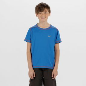 Kids Dazzler Reflective T-Shirt Skydiver Blue