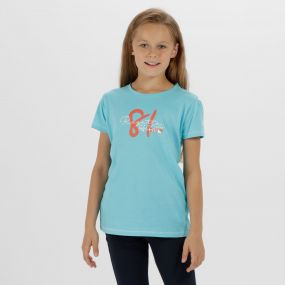 Kids Bosley Cool Weave Cotton T-Shirt Horizon
