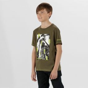 Bosley Coolweave Cotton T-Shirt Ivy Green