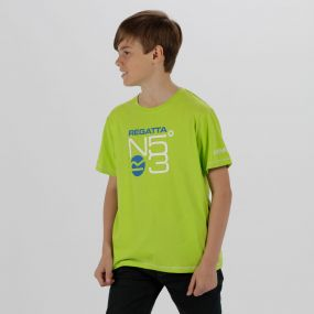 Kids Bosley Cool Weave Cotton T-Shirt Lime Zest