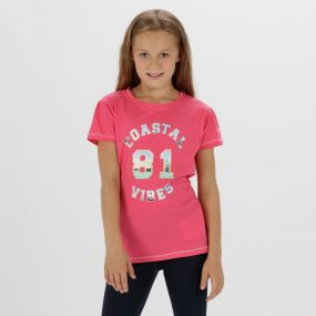 Bosley Coolweave Cotton T-Shirt Hot Pink