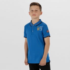 Kids Talor Quick Dry Polo Shirt Skydiver Blue