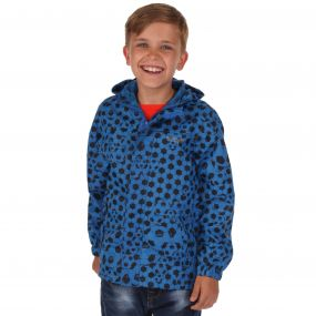 Kids Printed Pack-It Jacket Oxford Blue