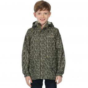 Kids Printed Pack-It Jacket Fauna