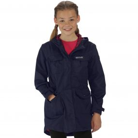 Girls Treasure II Parka Navy