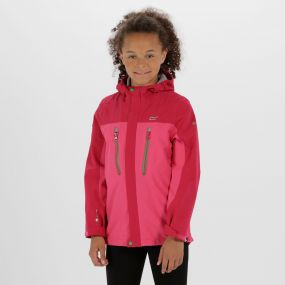 Kids Hipoint Stretch III Waterproof Jacket Hot Pink Vivacious