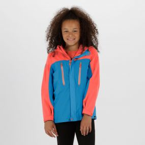 Kids Hipoint Stretch III Waterproof Jacket Pluto Neon Peach