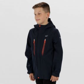 Kids Hipoint Stretch III Waterproof Jacket Navy