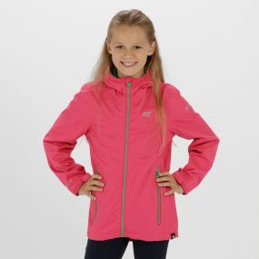 Kids Allcrest III Waterproof Hooded Jacket Hot Pink
