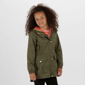 Kids Trifonia Waterproof Jacket Ivy Green
