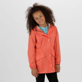 Kids Trifonia Waterproof Jacket Neon Peach
